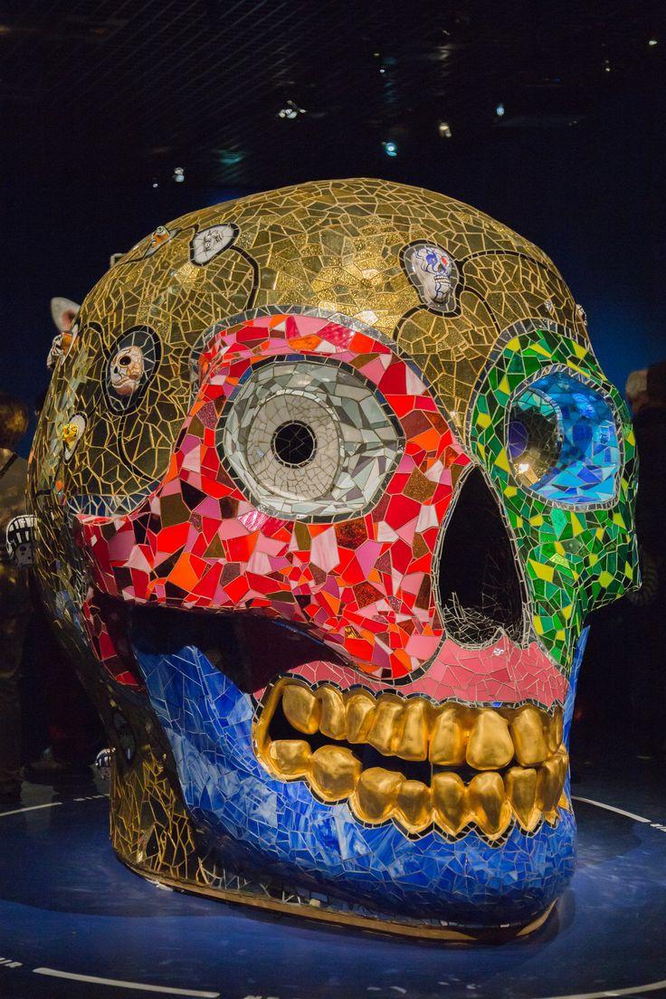 2014/10/10 18h36 Niki de Saint Phalle, «Skull (Meditat on Room)» (1990) 2 | Exposition Niki de Saint Phalle, Grand Palais (Paris)