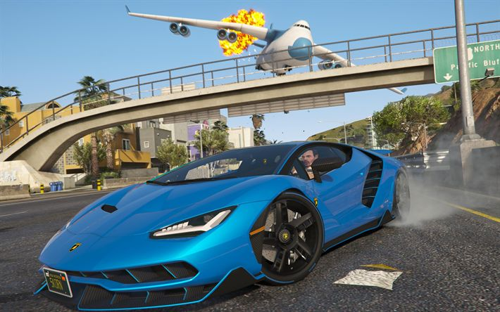 Download wallpapers GTA 5, 4k, Lamborghini Centenario, Grand Theft Auto V, GTA V, GTA5