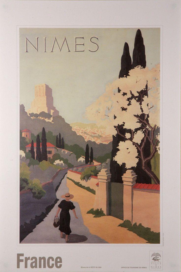 Affiche Nîmes Rétro