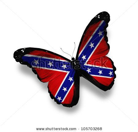 Confederate Rebel flag butterfly