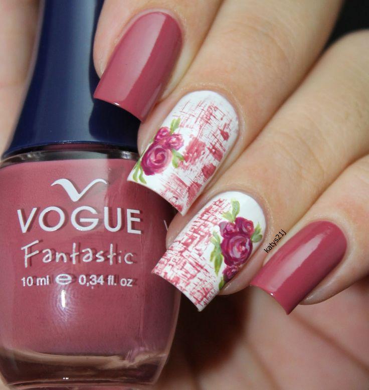 """My Nail Art Journal: Vintage Roses Nails / """"Rosa Viejo"""" Vogue Fantastic"""