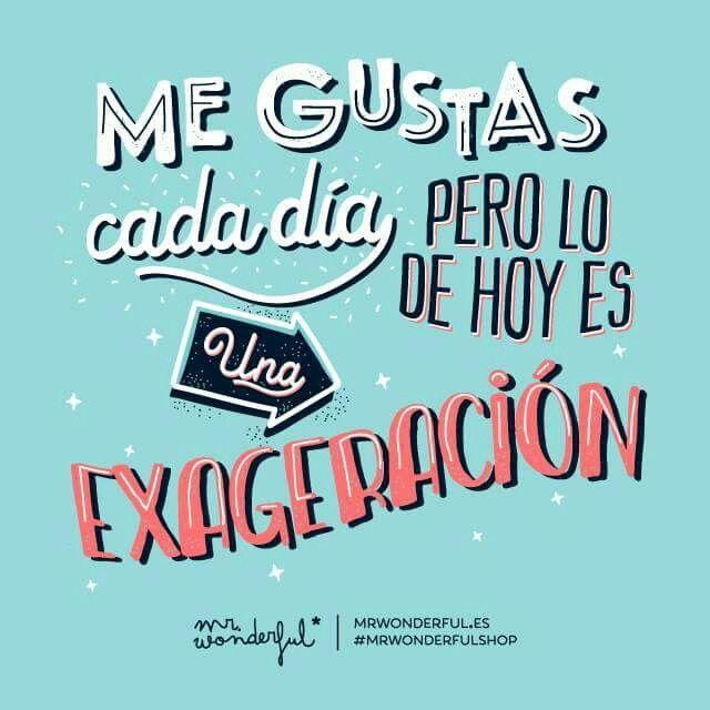 'Me gustas cada dia, pero lo de hoy es una exageracion' Mr. Wonderful // ♥м