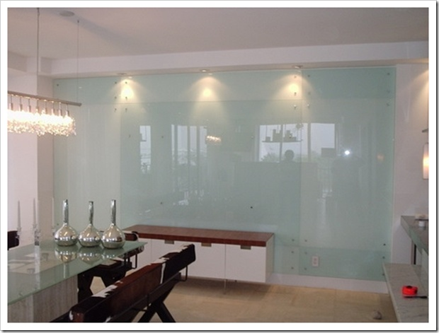 Frosted Glass Kitchen Cabinets Glass Wall To Write On With Neon Erasable Markers In