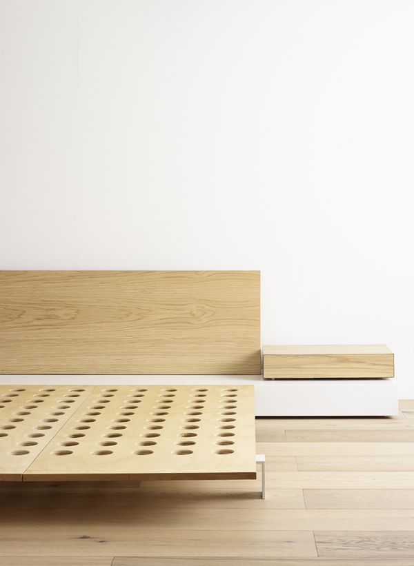 Bed and bedside drawer by Gordon Johnson. Photo by Eve Wilson.