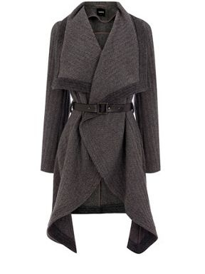 Oasis Textured drape Grey - House of Fraser - Judith this was the 'blanket coat' I was thinking of getting!
