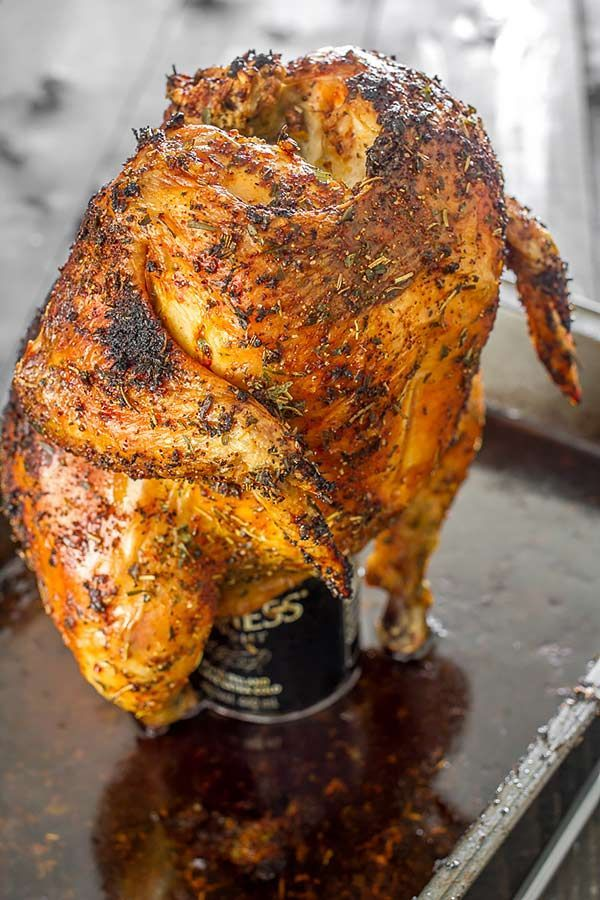 This tender and juicy chicken is perfectly seasoned with herbs and spices and oven-roasted to a crispy perfection.