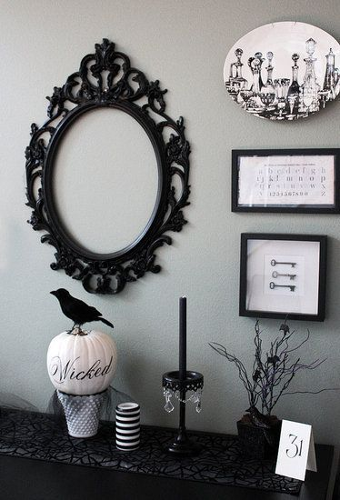 halloween entertaining in a chic palette - Elegant Halloween Decor