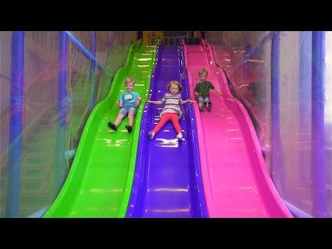 Bad Baby Attack GIANT Cinderella SHOE Kids indoor playground family fun play area kids Baby songs - YouTube