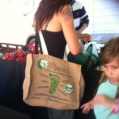Our brand new shopping bags - love them so much to purchase go to www.nutraorganics.com.au