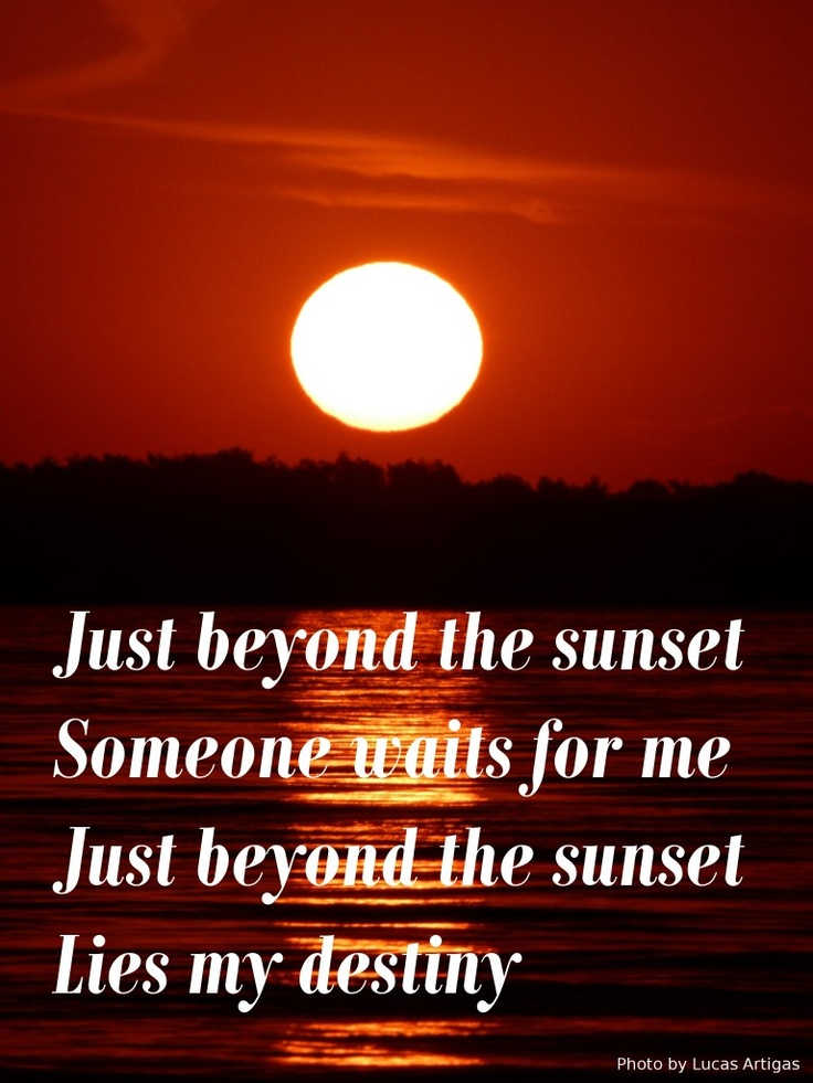 Just Beyond The Sunset...