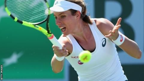 Indian Wells: Johanna Konta beats Madison Brengle at BNP Paribas Open