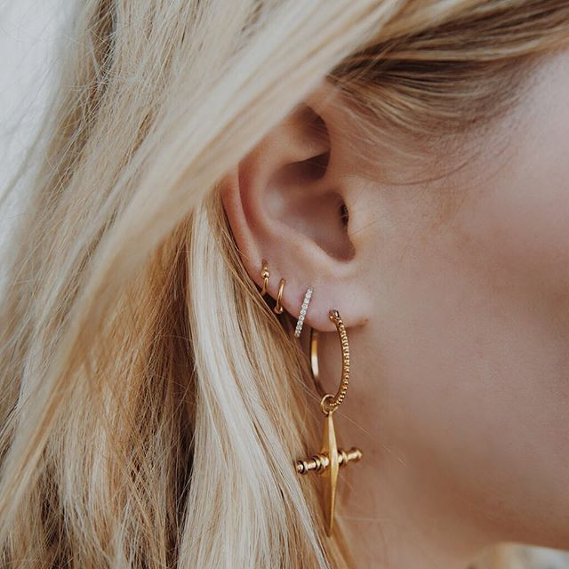 Friday just got a lot better... THE CROSS HOOPS ARE BACK! ✨And we got a sh*t load in stock so go get yourself a pair (because I know you've been thinking about it) | www.LuvAj.com