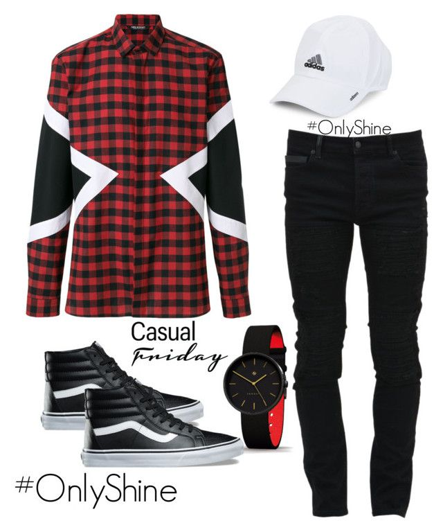 CasualFriday by onlyshinerd on Polyvore featuring polyvore Neil Barrett Marcelo Burlon Vans adidas men's fashion menswear clothing