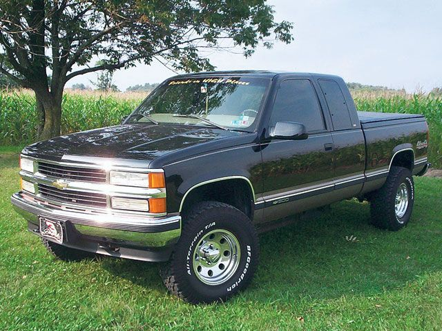 1998 Chevy Silverado Extended Cab 1500 4x4 Future Wheel And Tire Combo Pinte