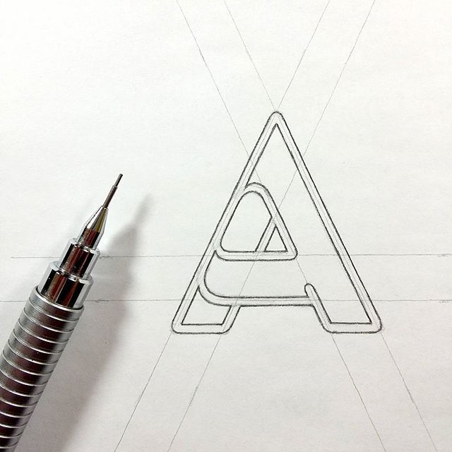 A typography logo
