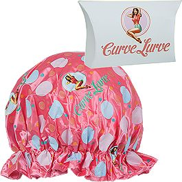 Curve Lurve Shower Cap – ($9.95) Lurve her curls! This shower cap is made from satin cloth plus EVA. It comes packaged in a cute pillow box, and it is a perfect gift to share with mum to help share the lurve, and the breast awareness message. http://shoppink.mcgrathfoundation.com.au/prodetail.asp?proid=31383&search=Curve%20Lurve