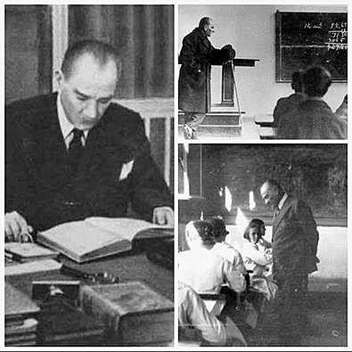 """""""Milletleri kurtaran yalnız ve ancak öğretmenlerdir..Öğretmenden ve eğiticiden mahrum bir millet, henüz bir millet adını alma yeteneğini kazanamamıştır."""" Mustafa Kemal ATATÜRK Tüm hocalarımın ve de öğretmenlerimizin """" Öğretmenler Günü"""" kutlu olsun."""