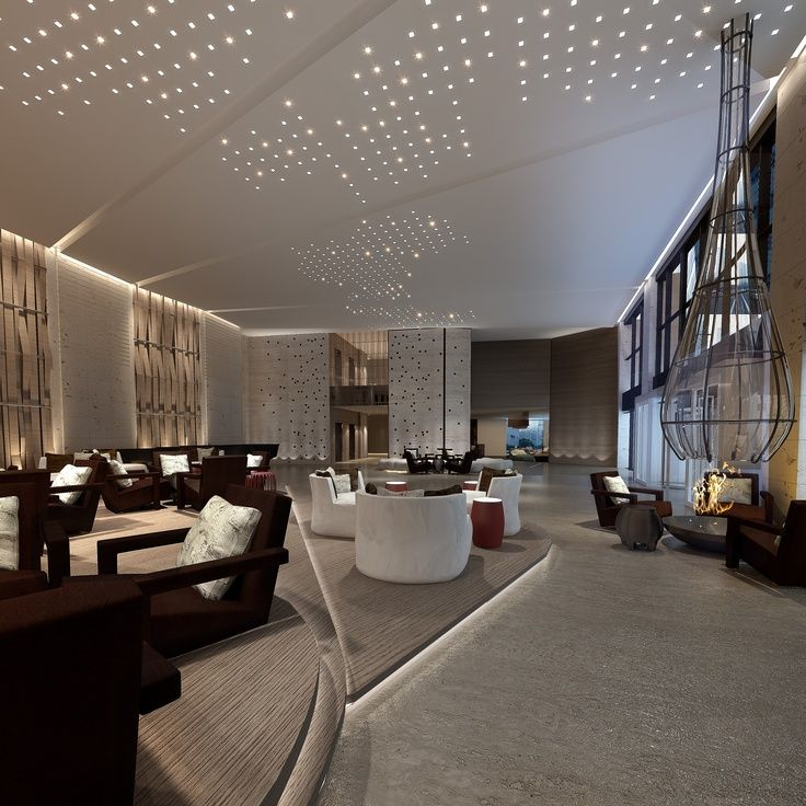 Led lighting ideas for a contemporary lobby salon for Design hotel le cinema