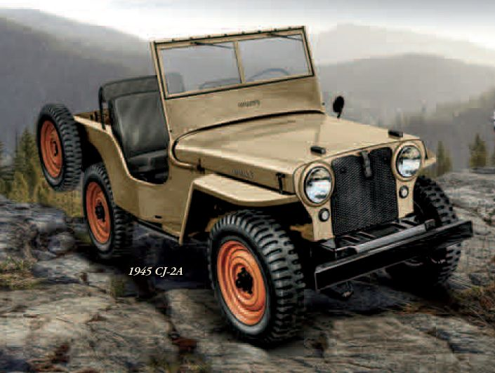 classic willys cj-2a - the first civilian jeep 4x4. | jeep cj2a