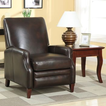 $700 Cleburne Leather Pushback Recliner