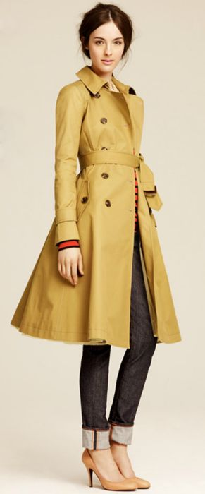 J.Crew Fall - Flared Trench Coat. Timeless.