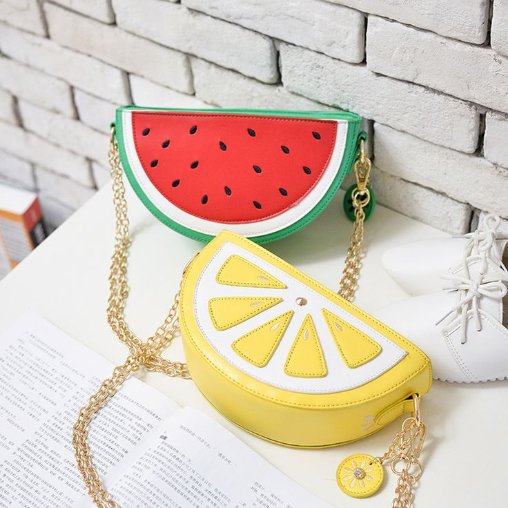 Bolsa Fruta Divertida Limão e Melancia Bolsas Divertidas