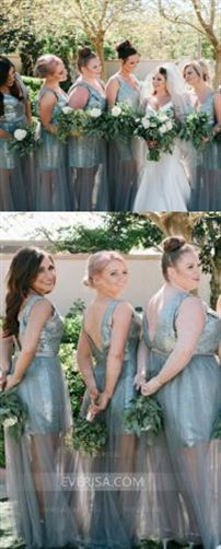 c649a602e26 V Neck Sleeveless Backless Plus Size Sequin Bridesmaid Dresses  Neck   Bridesmaid  sequin  sleeveless