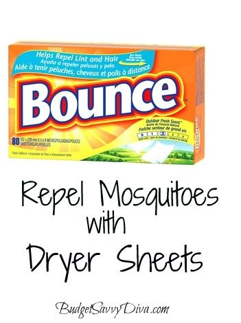 Repel Mosquitoes With Dryer Sheets. DEF gotta try this bc I am always getting eaten up by those BLOODSUCKERS :X