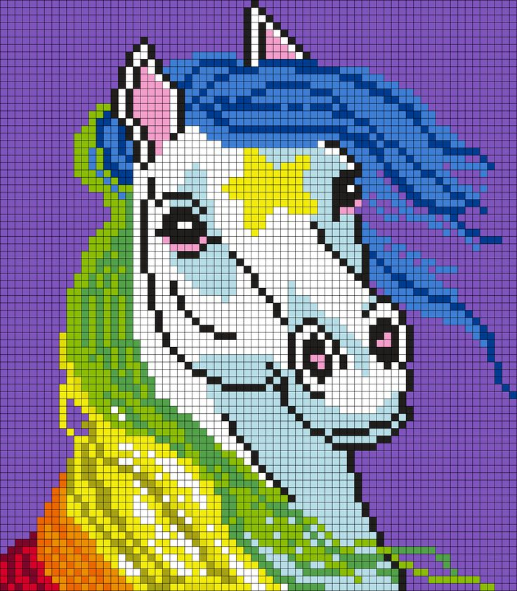Starlite From Rainbow Brite (Square) by Maninthebook on Kandi Patterns