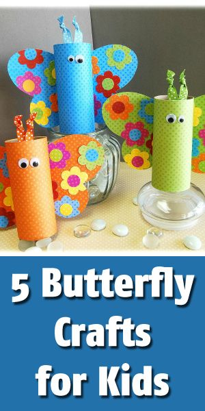 5 Easy Butterfly Crafts For Kids