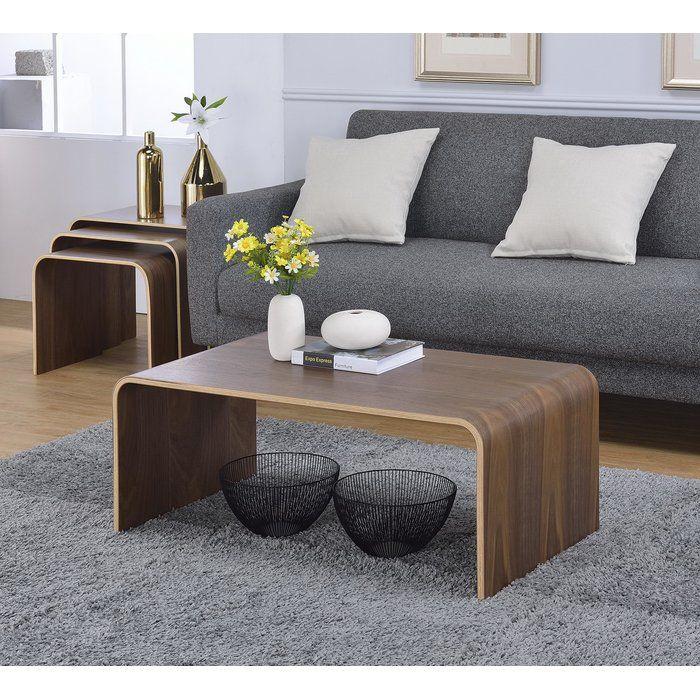 Dreshertown Bentwood Coffee Table Coffee Table Modern Furniture Living Room Minimalist Coffee Table