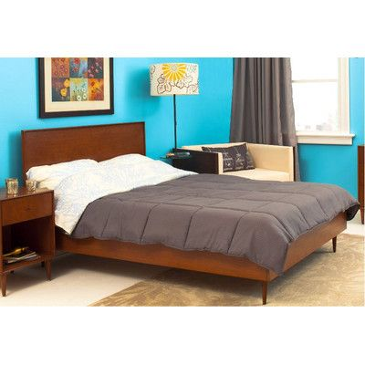 Urbangreen Midcentury Panel Bed | Wayfair
