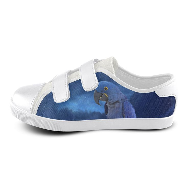 Hyacinth Macaw Velcro Canvas Kid' Shoe