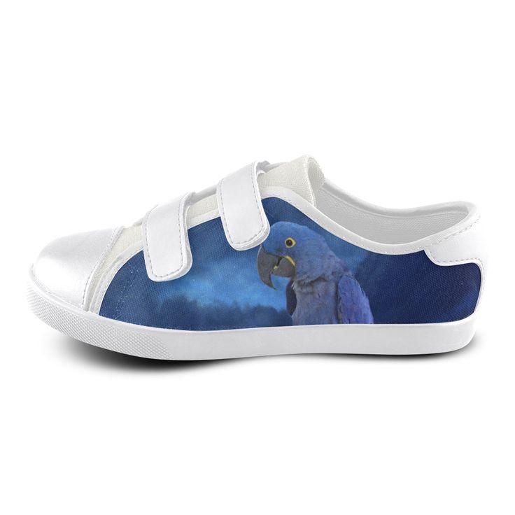 Hyacinth Macaw Velcro Canvas Kid' Shoe
