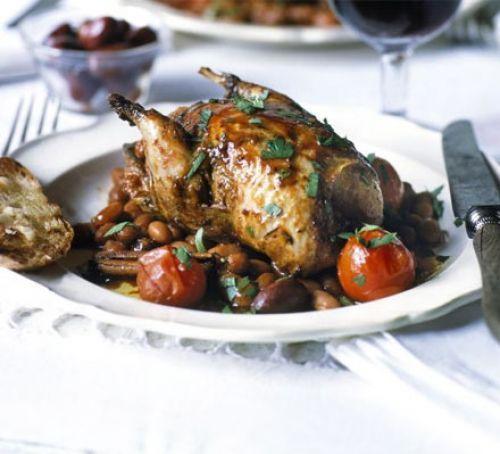 Partridge with wine & cinnamon