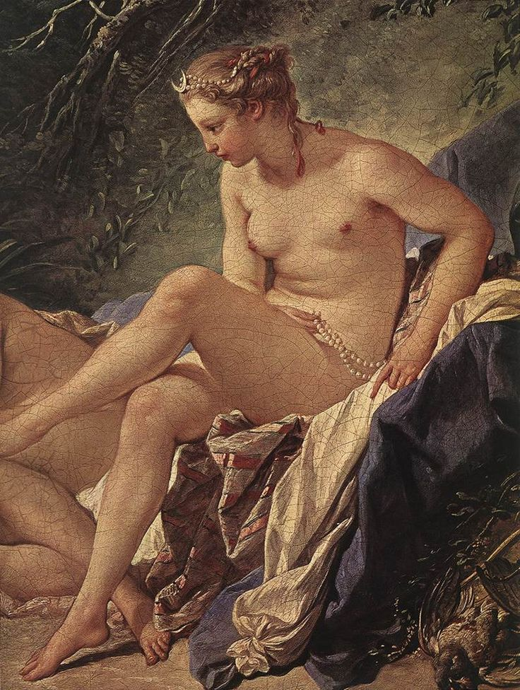 Diana Resting After Her Bath (detail) by François Boucher, 1742.