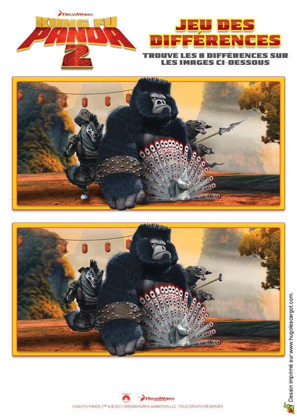 Un jeu de différence Kung Fu Panda pour s'amuser entre amis.