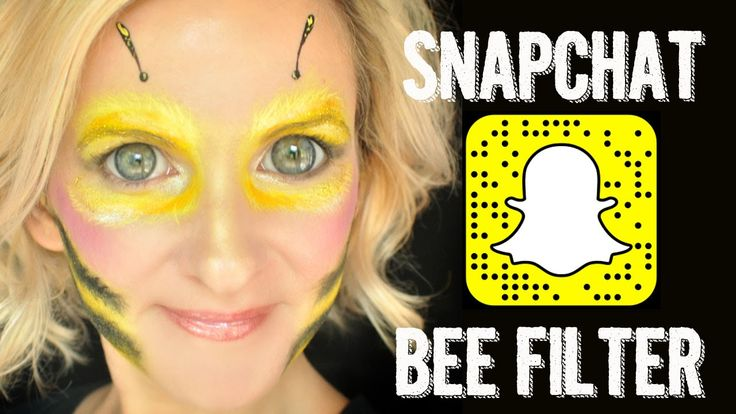 Snapchat BEE Filter Makeup Face Paint Tutorial