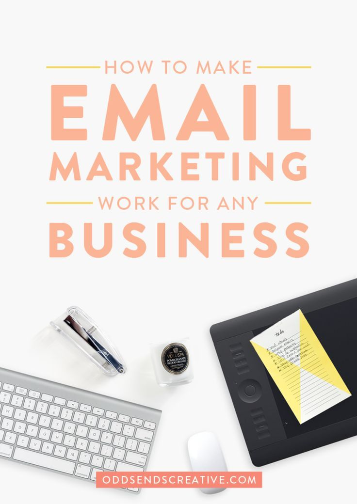 INTERESTING: How to Make Email Marketing Work for Any Business. Tips for creative entrepreneurs, small business owners, and bloggers. Whether you use Convert Kit, InfusionSoft, or MailChimp, email marketing can be extremely productive in developing your tribe of targeted potential clients/customers.
