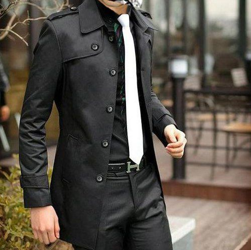 Jacket-HermesBlack Style, Belts Buckles, White Ties, All Black, Men Style, Jackets, Black White, Men Fashion, Trench Coats