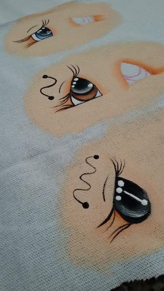 Como pintar olhos no tecido