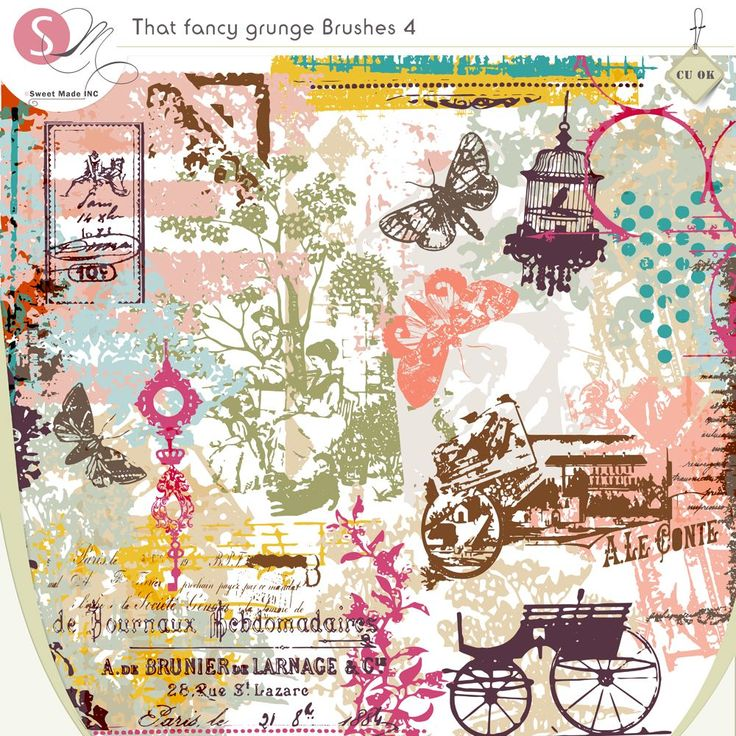 36+ Contemporary Scrapbook Title Ideas Adornment That Fancy Grunge Brushes 4 Cuc…