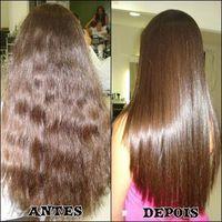 Spa el cabello por el aceite