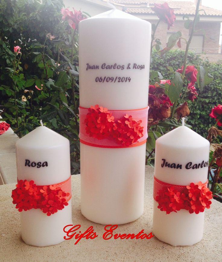 velas ceremonia unidad, velas para ceremonia de la luz. www.giftseventos.es