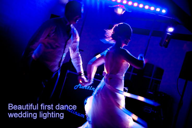 Setting a special lighting scene looks beautiful in the first dance photos - DJ Martin Lake