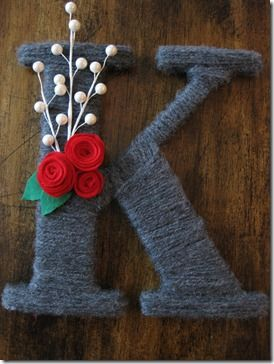 I WANT: Yarn Wrapped Letters, Crafty Crafts, Craft Ideas, Yarn Crafting, Yarn Letters, Yarn Monograms, Church Crafts