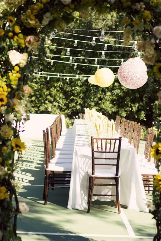 #stylemepretty for #ohsoinspired  Wedding Venue: Tennis Court http://www.intimateweddings.com/blog/page/34/