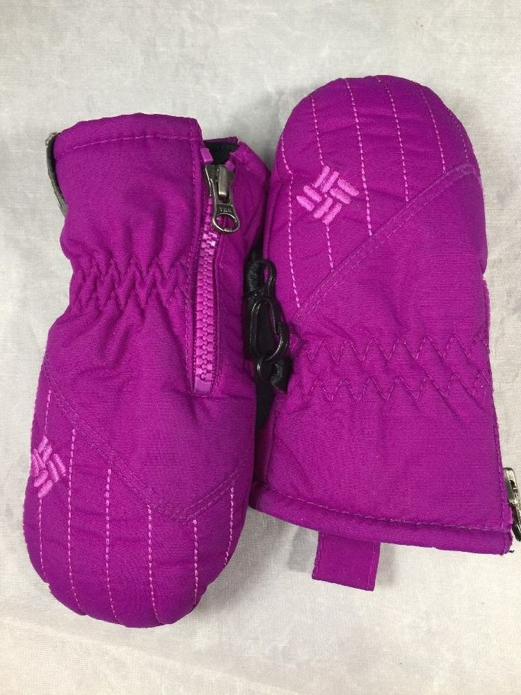 Columbia Chippewa Infant Girl Purple Mittens/Gloves. My daughter used them when she was 1 year old. Used Lightly. In great condition ~ light wear. | eBay!