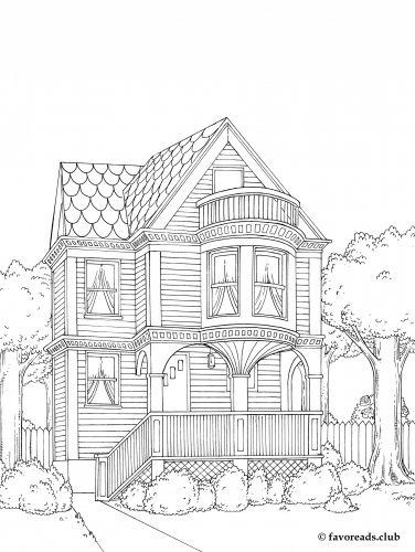 victorian house - Coloring Pages Of Houses