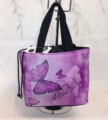 Lunch Bag Box Handbag Insulated Tote For Woman NWT  Purple ELLE